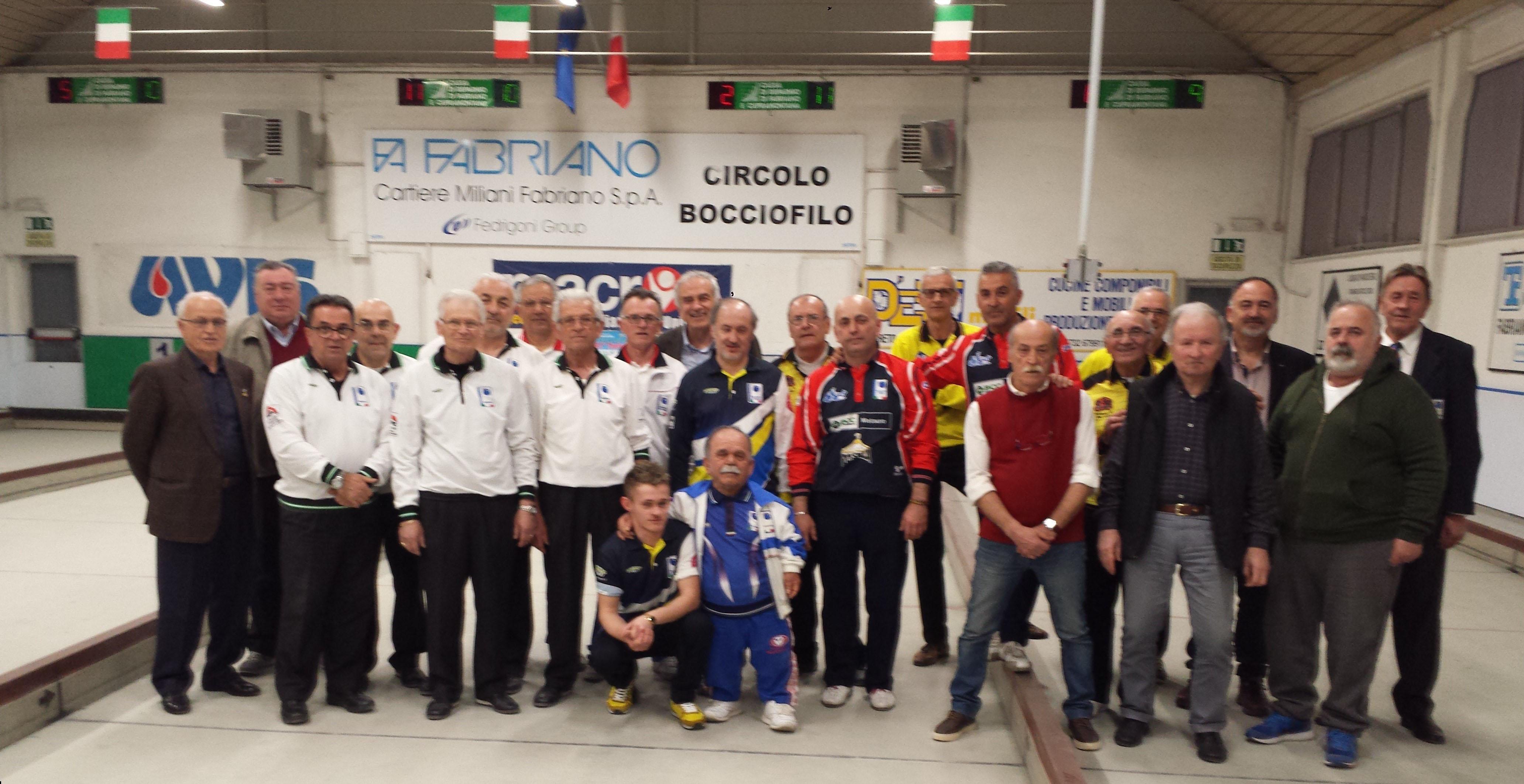 """FABRIANO, CIRCOLO BOCCIOFILO """"41° Trofeo Cartiere Miliani"""""""