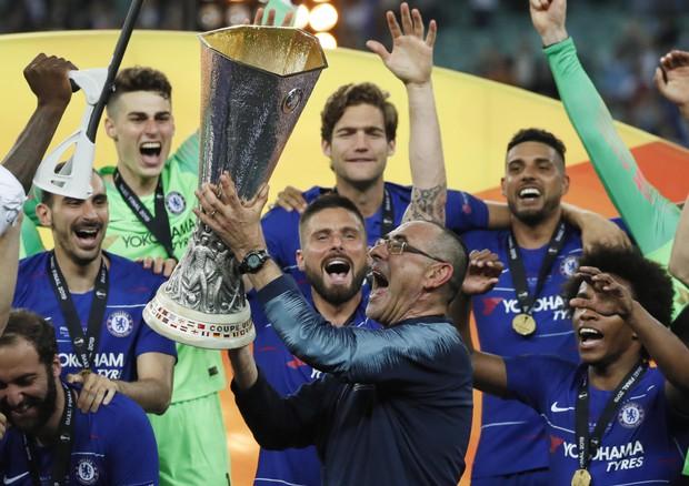TRIONFO BLUES Sarri vince l