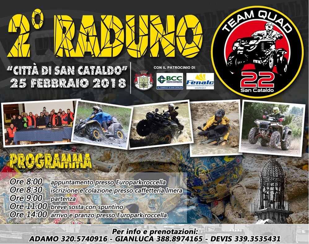 "2° Raduno ASD TEAM QUAD 22 ""SAN CATALDO"""